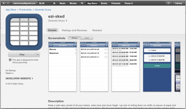 ezi-sked iOS Alpha App Store